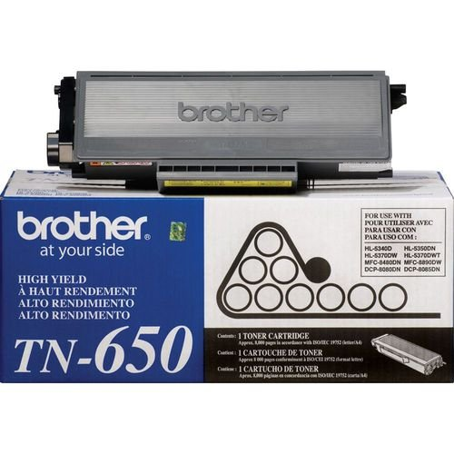 Original TN-650 Toner Brother Preto TN650 Autonomia 8.000Páginas