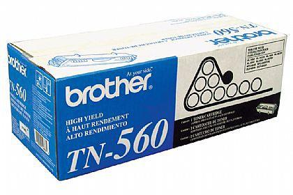TN-560 - Toner Original Brother TN560 Preto Autonomia 6.500Paginas