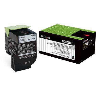 80C8SK0 Toner Original Lexmark 808SK Preto 2.500Paginas aproximadamente em texto