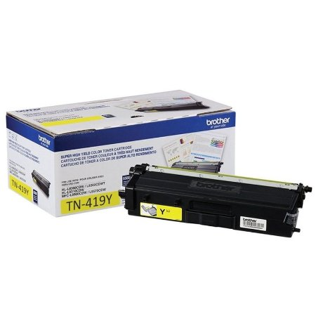 Original TN419Y Toner Brother Amarelo TN-419Y Autonomia 9.000Páginas