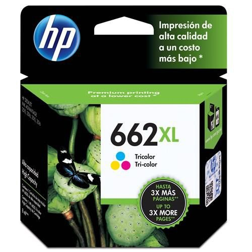 Original 662XL CZ106AB Cartucho de tinta HP Tricolor 360Páginas