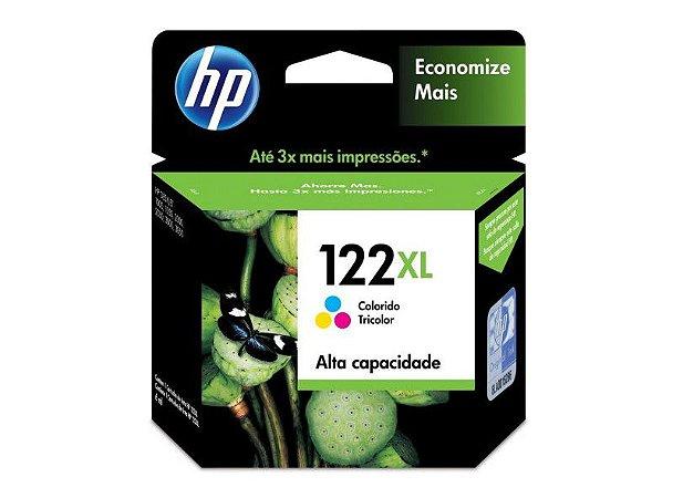 Original 122XL CH564HB Cartucho de Tinta HP Tricolor 330Páginas