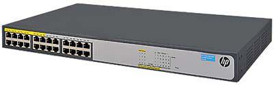 JH019A - Switch HP 24Portas 1420-24G-PoE, 24 portas 10/100/1000 Mbps, sendo 12 portas com PoE