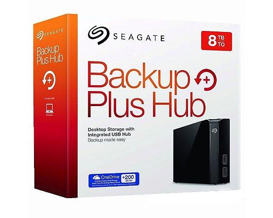 8TB - HD Externo Seagate 8TB Backup Plus Desktop STEL8000100