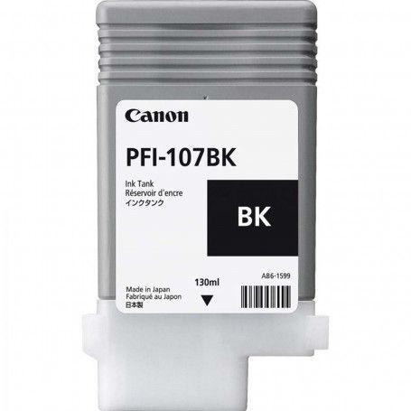 Original PFI-107BK Cartucho de Tinta Canon Preto 130ml