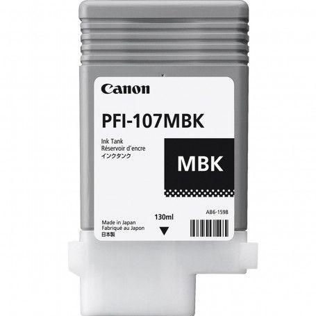 Original PFI-107MBK Cartucho de Tinta Canon Preto Fosco 130ml