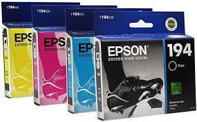 Original T194 Kit Catuchos Epson 4 Cores T194120 T194320 T194220 T194420