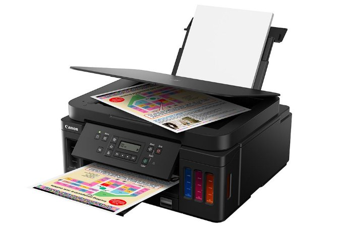 G6010 Multifuncional Tanque de Tinta Canon MegaTank Impressora, Copiadora, Scanner e Wifi