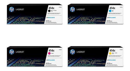 Original Kit 414X W2020X / W2021X / W2022X / W2023X Toner HP as Quatro Cores