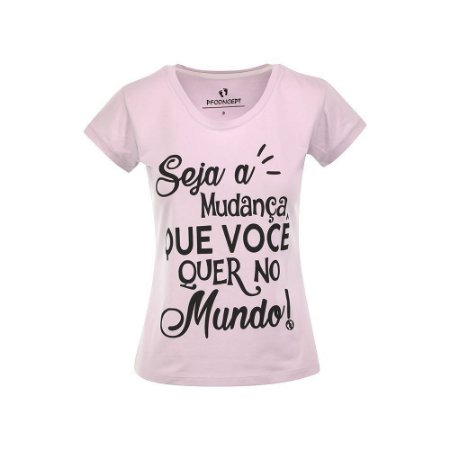 Camiseta Feminina Seja a Mudança Lilás