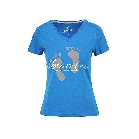 Camiseta Feminina Ubuntu Azul