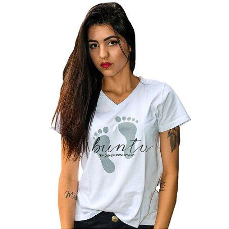 Camiseta Feminina Ubuntu Branca