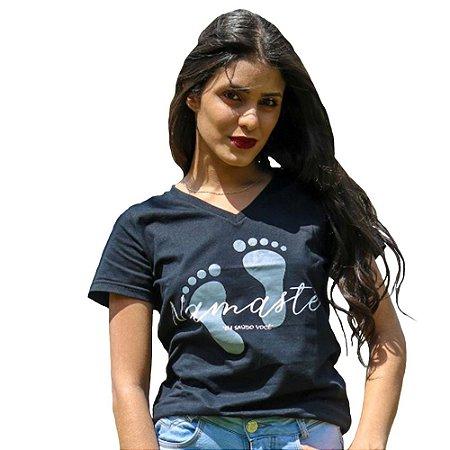 Camiseta Feminina Namaste Preta