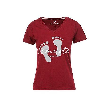 Camiseta Feminina Namaste Marsala