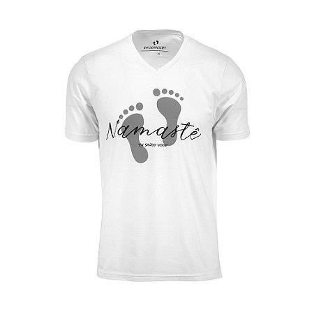 Camiseta Masculina Namastê Branca