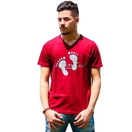Camiseta Masculina Ubuntu Marsala