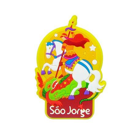 Imã emborrachado alto-relevo São Jorge