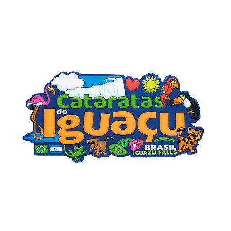 Imã emborrachado alto-relevo Iguaçu ícones