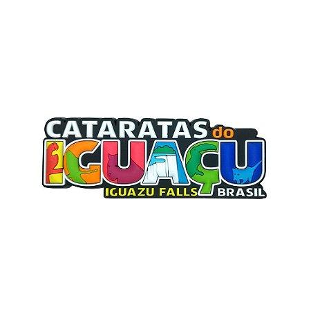 Imã emborrachado alto-relevo Iguaçu escrito