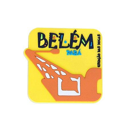 Imã emborrachado alto-relevo Estação da Docas - Belém