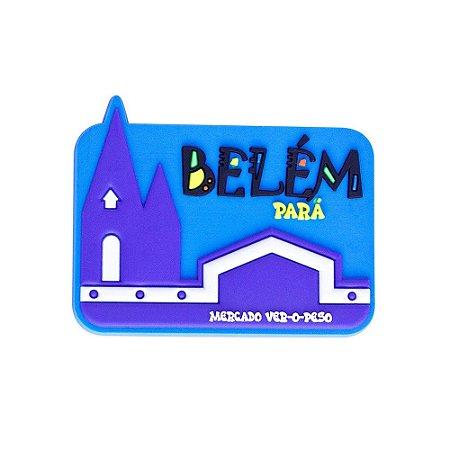 Imã emborrachado alto-relevo Mercado - Belém