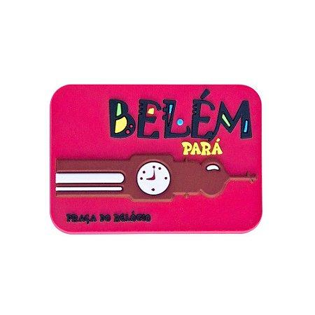 Imã emborrachado alto-relevo Praça do Relógio - Belém