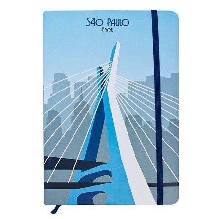 Caderno de anotações ponte Estaiada - São Paulo