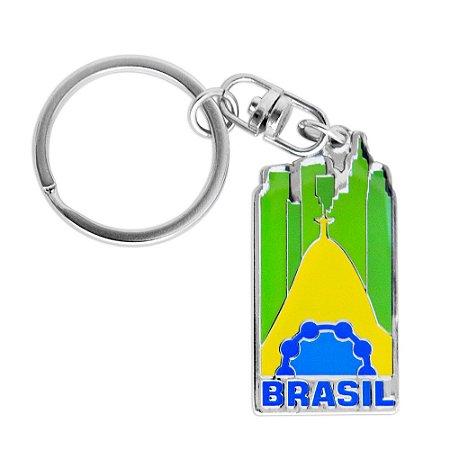 Chaveiro de metal icones - Brasil