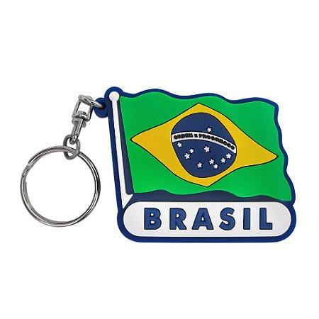 Chaveiro emborrachado bandeira- Brasil