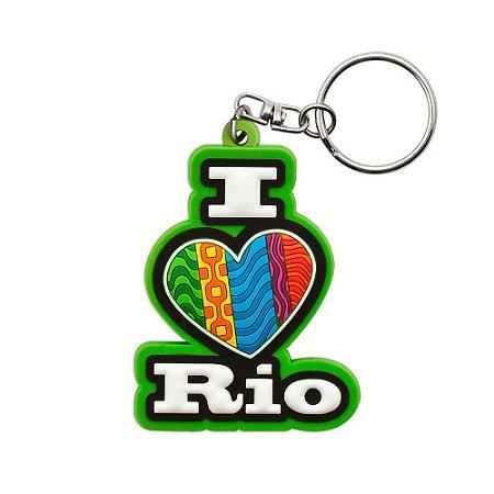 Chaveiro emborrachado I love / vertical - Rio de Janeiro