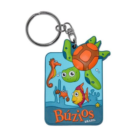 Chaveiro emborrachado tartaruga - Búzios
