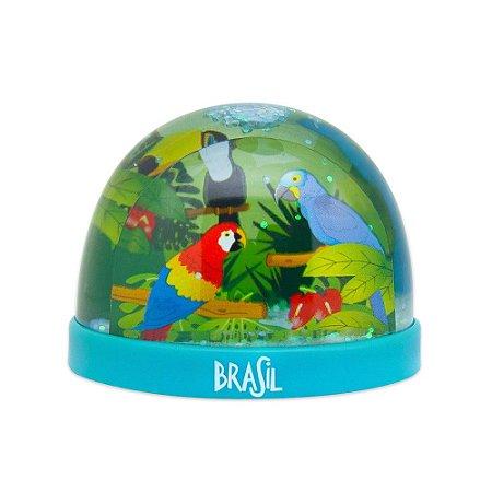 Globo de neve plástico fauna - Brasil