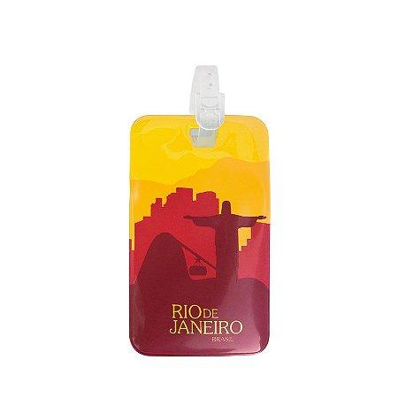 Identificador de bagagem PVC vermelho - Rio de Janeiro