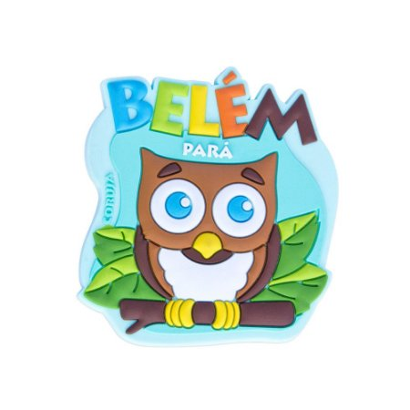 Imã de geladeira coruja - Belém