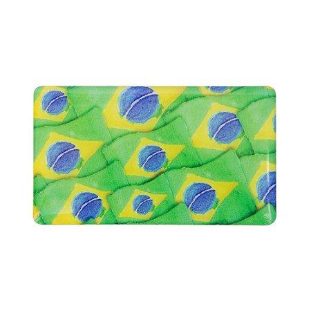 Imã de geladeira bandeira do Brasil