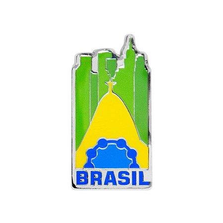 Imã de geladeira de metal ícones - Brasil