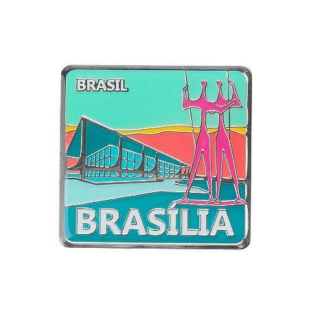 Imã de geladeira de metal Palácio do Planalto - Brasília