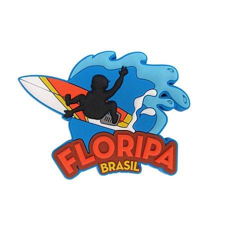 Imã de geladeira surfista - Florianópolis