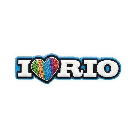 Imã de geladeira I love azul - Rio de Janeiro