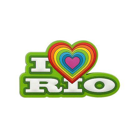 Imã de geladeira I love verde - Rio de Janeiro