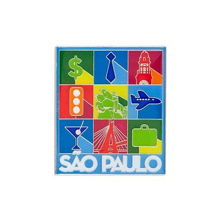 Imã de geladeira ícones - São Paulo