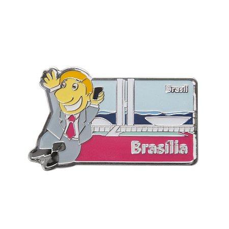 Imã de geladeira metal político 2 - Brasília