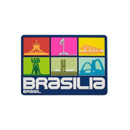 Imã de geladeira Brasília quadrados