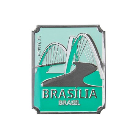 Imã de geladeira fonte JK - Brasília