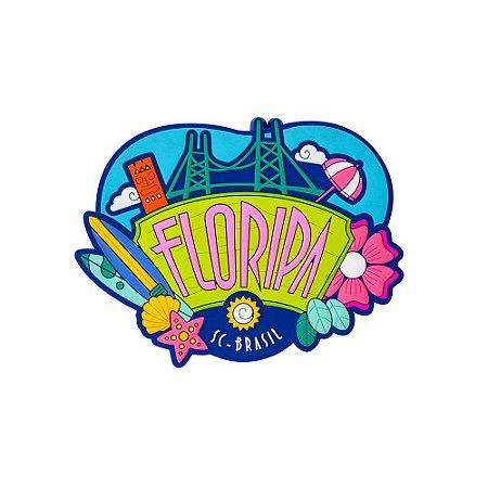 Imã de geladeira ícones - Floripa