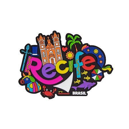 Imã de geladeira ícones - Recife