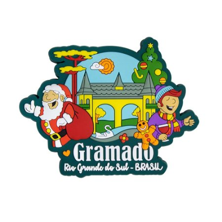Imã de geladeira papai noel I - Gramado