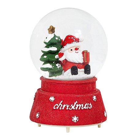 Globo de Neve Musical com Iluminação LED - Natal Papai Noel