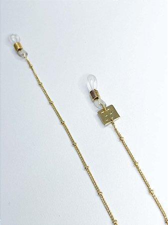 Corrente para Óculos Perla Prado ref: Bolinhas douradas Cor: Ouro