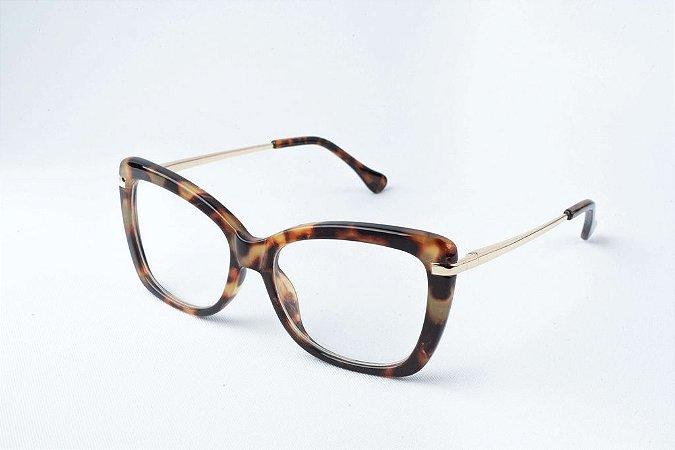Armação Óculos de Grau Perla Prado - ref: Amanda Tiger